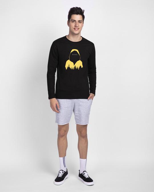 Shop Yellow Raincoat Dark Full Sleeve T-Shirt Black-Design
