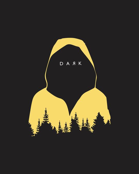 Shop Yellow Raincoat Dark Full Sleeve T-Shirt Black-Full