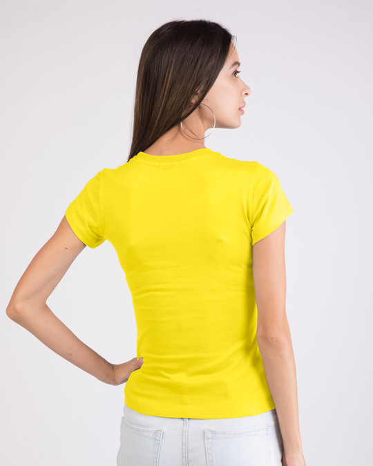 Shop Yes! Ignoring You Half Sleeve T-Shirt (DL) Pineapple Yellow-Back