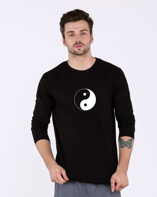 Shop Yin Yang Full Sleeve T-Shirt-Front