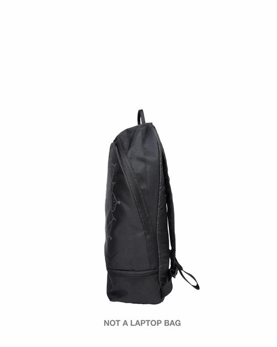 Shop Yin Yang Mandala Printed Small Backpack-Back