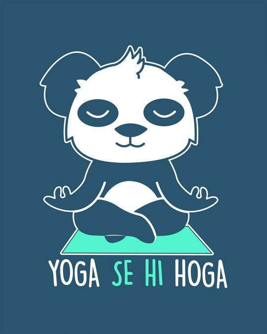 Shop Yoga Panda Half Sleeve T-Shirt