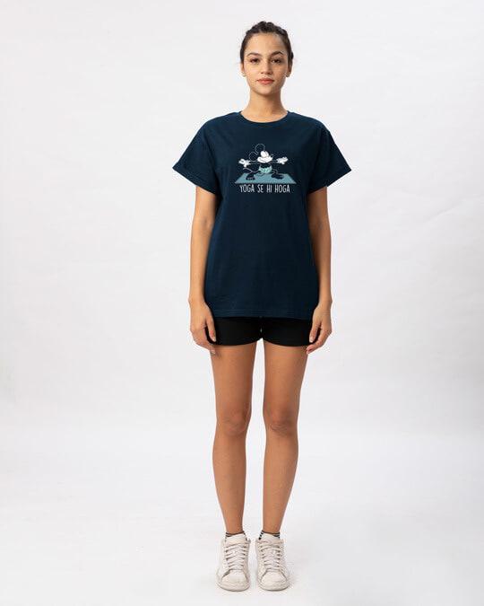 Shop Yoga Se Hoga Mickey Boyfriend T-Shirt (DL)