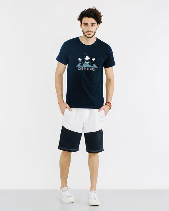 Shop Yoga Se Hoga Mickey Half Sleeve T-Shirt (DL)