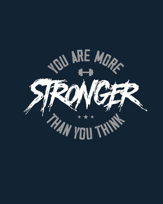 Shop You Are More Stronger Full Sleeve T-Shirt-Full