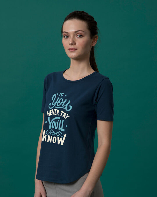 Shop You'll Never Know Basic Round Hem T-Shirt-Back