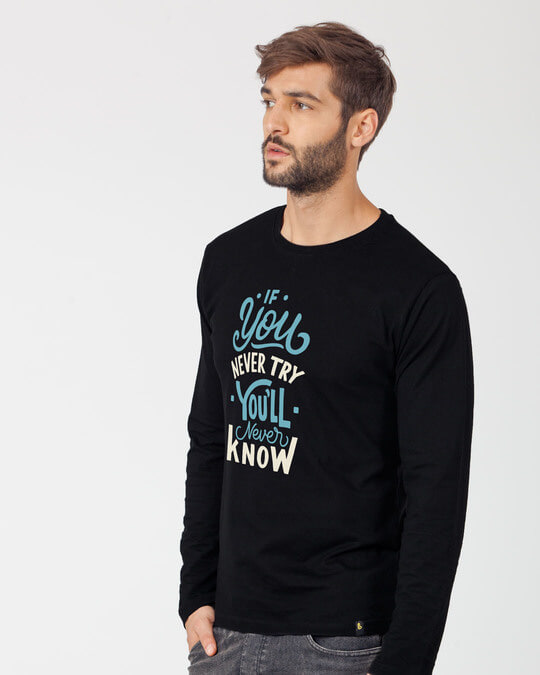 Shop You'll Never Know Full Sleeve T-Shirt-Back