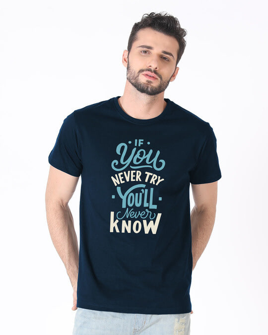 Shop You'll Never Know Half Sleeve T-Shirt-Back