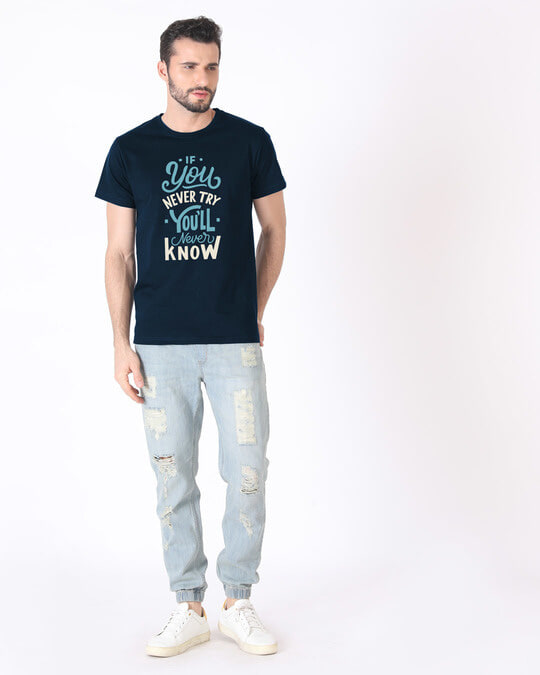 Shop You'll Never Know Half Sleeve T-Shirt