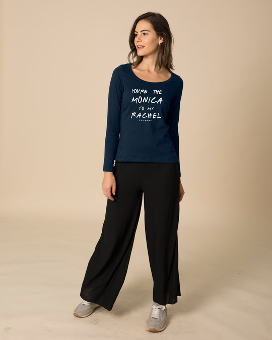 Shop You're The Monica Scoop Neck Full Sleeve T-Shirt (FRL)-Design
