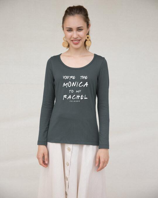 Shop You're The Monica Scoop Neck Full Sleeve T-Shirt (FRL)-Design