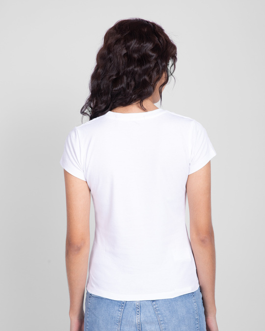 Shop Young & Wild Half Sleeve Printed T-shirt White-Design
