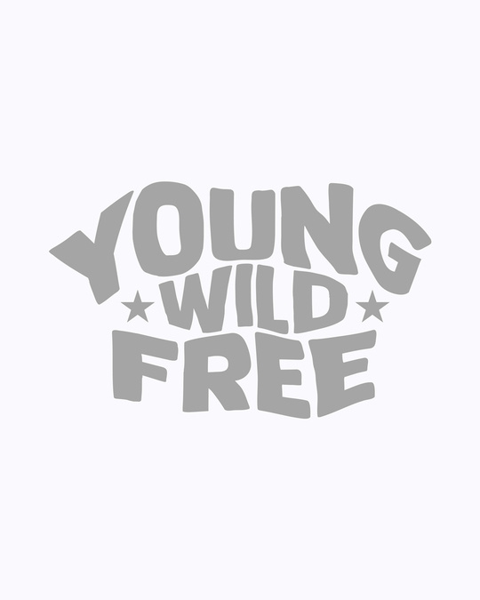 Shop Young & Wild Half Sleeve Printed T-shirt White