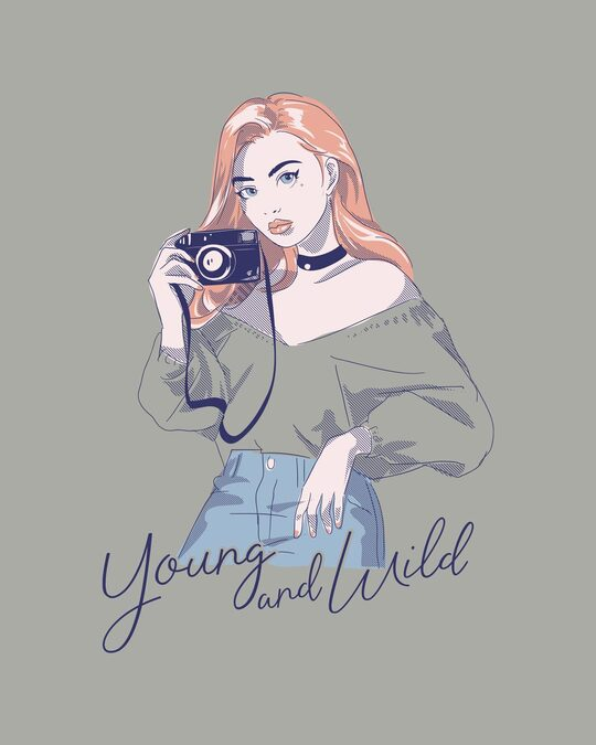 Shop Young And Wild Half Sleeve T-Shirt-Full