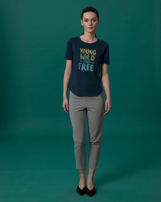 Shop Young Wild Free Colorful Basic Round Hem T-Shirt-Full