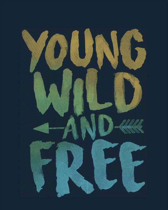 Shop Young Wild Free Colorful Full Sleeve T-Shirt