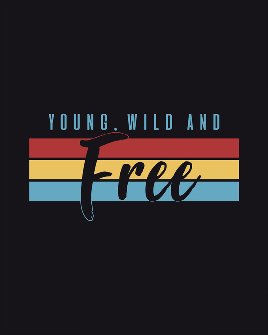 Shop Young Wild Free Stripes Half Sleeve T-shirt-Full