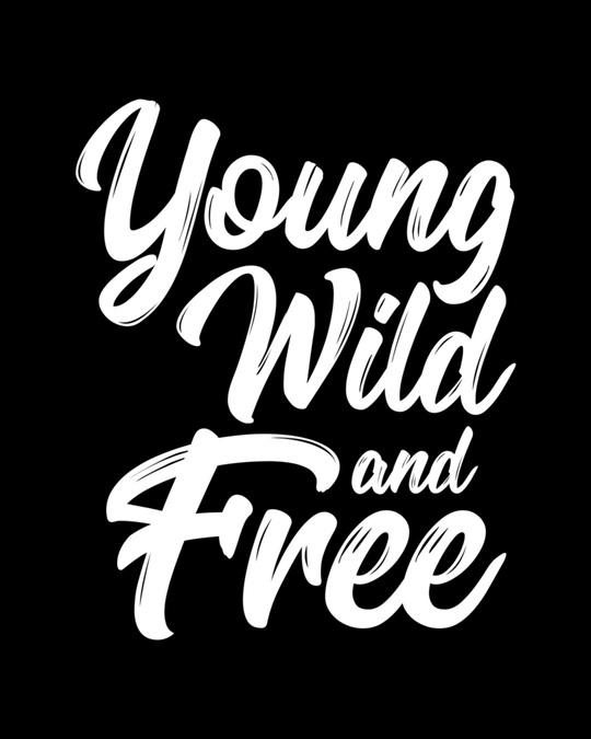 Shop Young Wild Typography Boyfriend T-Shirt