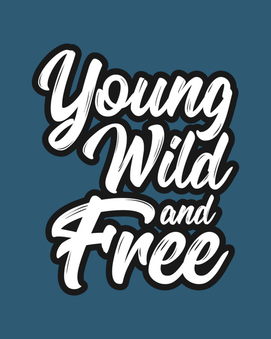 Shop Young Wild Typography Full Sleeve T-Shirt