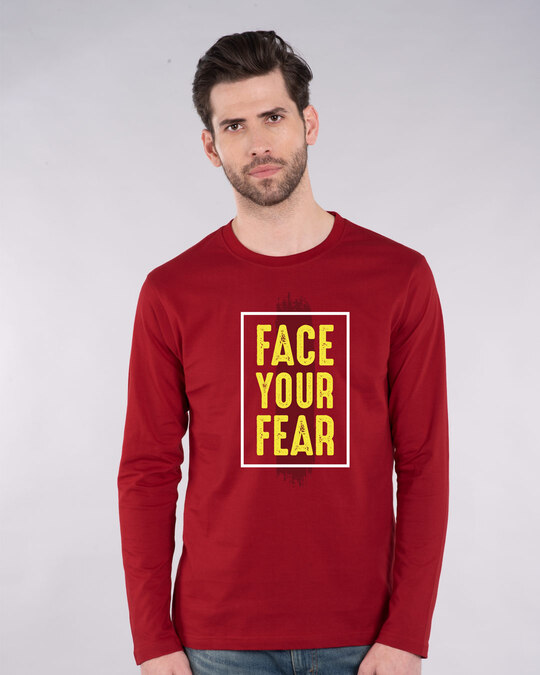 Shop Your Fear Full Sleeve T-Shirt-Front