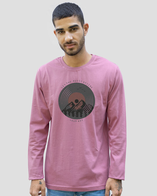Shop Your Way Full Sleeve T-Shirt-Frosty Pink-Front