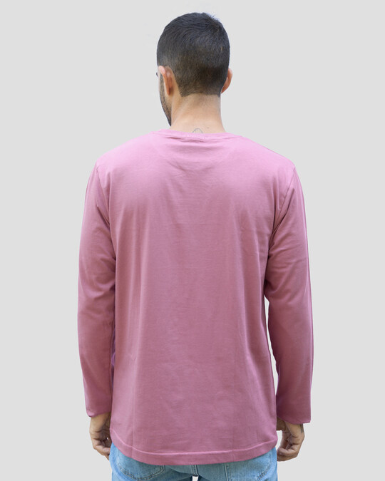 Shop Your Way Full Sleeve T-Shirt-Frosty Pink-Back