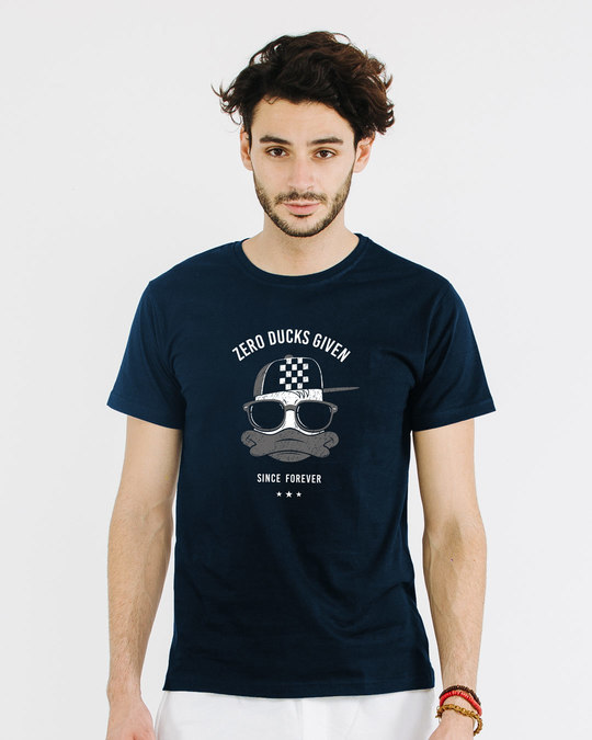 Shop Zero Ducks Given Half Sleeve T-Shirt-Back