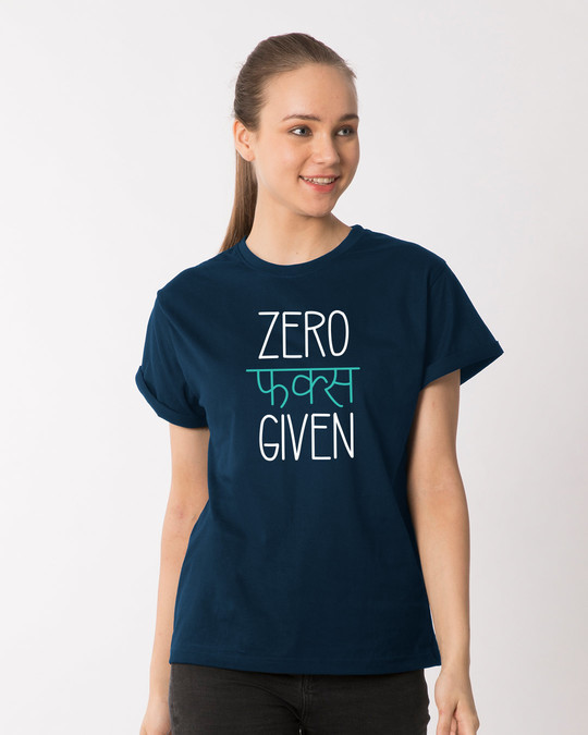 Shop Zero F Given Boyfriend T-Shirt-Front