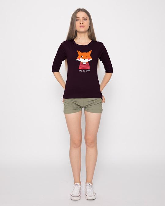 Shop Zero Fox Round Neck 3/4th Sleeve T-Shirt