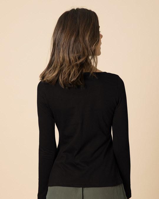 Shop Ziddi Scoop Neck Full Sleeve T-Shirt-Back