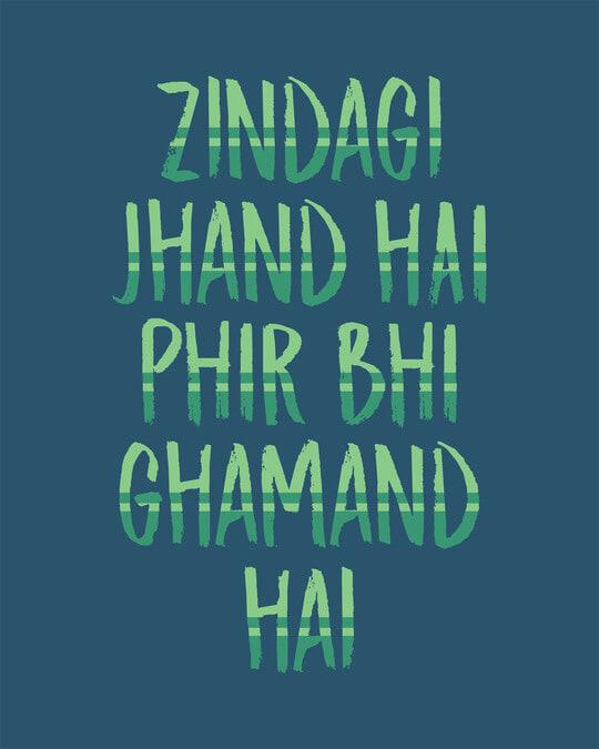 Shop Zindagi Jhand Hai Full Sleeve T-Shirt