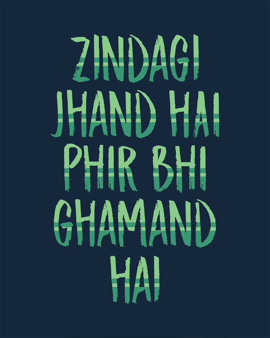Shop Zindagi Jhand Hai Round Neck 3/4th Sleeve T-Shirt