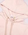 Shop Baby Pink-White Half Sleeve Hoodie T-Shirt