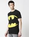 Shop Batman Logo Yellow Half Sleeves Hperprint T-Shirt (BML) Black-Design