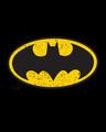 Shop Batman Logo Yellow Half Sleeves Hperprint T-Shirt (BML) Black