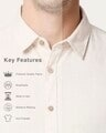 Shop Men's Linen Contrast Full Sleeves Shirt