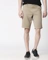 Shop Desert Beige Men's Shorts-Front