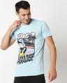 Shop Bird Of Paradise Half Sleeves T-Shirt-Front