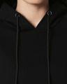 Shop Black Basic Hoodie Sweatshirt