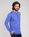 Shop Blue Haze V-Neck Henley T-Shirt-Back