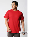 Shop Bold Red Half Sleeve Plus Size T-Shirt-Front