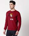 Shop Busy Doin Nothing Fleece Sweater-Back