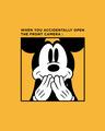 Shop Camera Mickey Fleece Sweater (DL) Mustard Yellow-Full