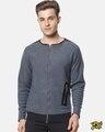 Shop Full Sleeve Solid Men Casual Zipper Jacket-Front
