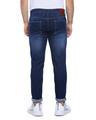 Shop Men Slim Fit Solid Side Striped Stretch Stylish New Trends Blue Denim Jeans-Design
