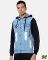 Shop Men Stylish Casual Denim Jacket-Front
