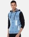 Shop Men Stylish Casual Denim Jacket-Back