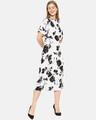 Shop Women Stylish Floral Design Casual Dresses-Back