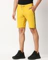 Shop Ceylon Yellow Men's Solid Side Tape Pocket Shorts-Design