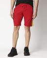 Shop Men's Plain Cut N Sew Fashion Shorts Multicolor-Front
